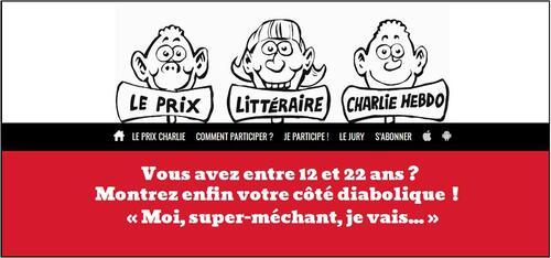 """Vous aimez écrire, tntez le """"Prix littéraire Charlie Hebdo"""""""