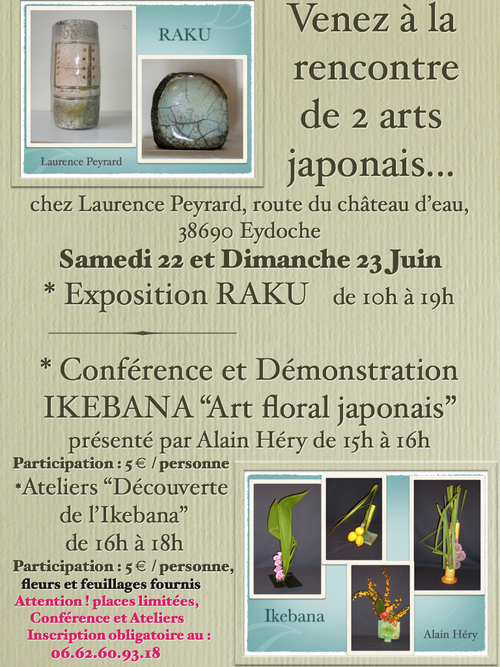 Arts japonais : le Raku et l'Ikebana