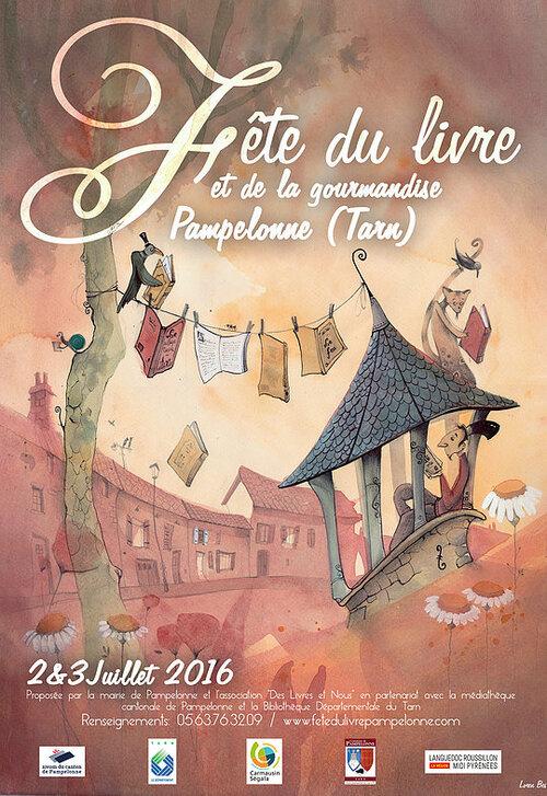 03 Juillet 2016 Fête du livre et de la gourmandise PAMPELONNE 81