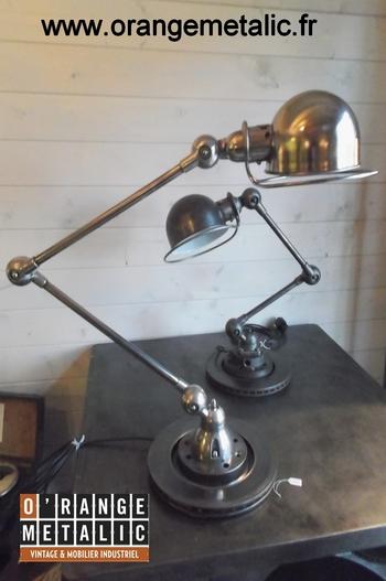 Lampe Atelier Jieldé 2 bras O'Range Metalic