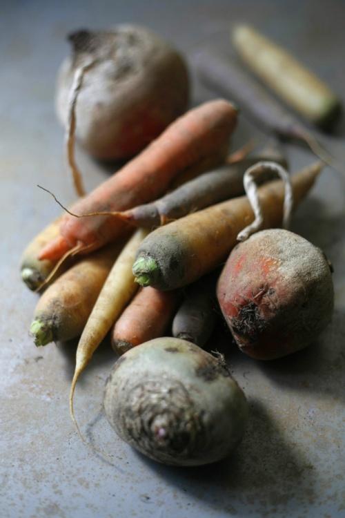 Julienne de betteraves et carottes à la cardamome noire