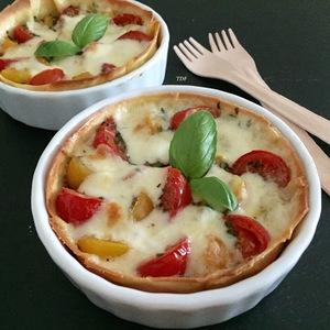 """Tartelettes façon """"tomates mozza"""""""