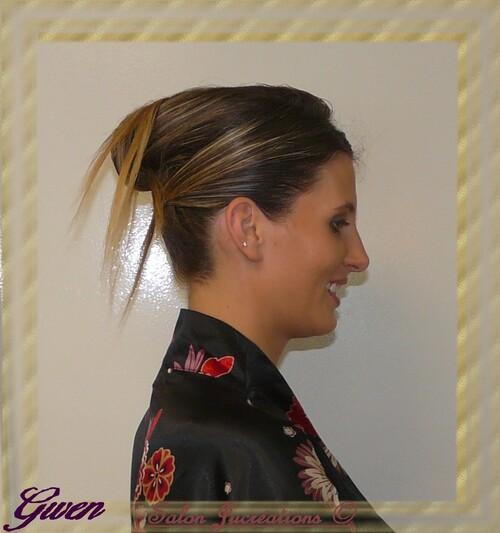 Gwen modèle du défilé Charlott'