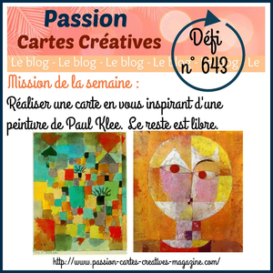 "Défi ATC juin 2020 ""Passion cartes créatives"""