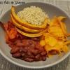 Bouddha bowl potimarron poivrons