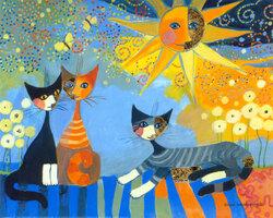 Les chats à la manière de Rosina Wachtmeister