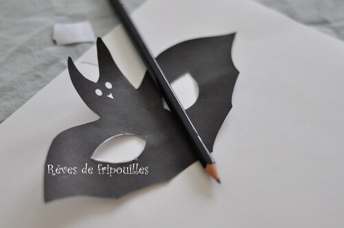 Masques chauve-souris d'Halloween - Happy Mail Kids
