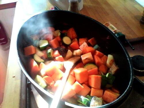Couscous de légumes (madeleine de Proust...ou presque)