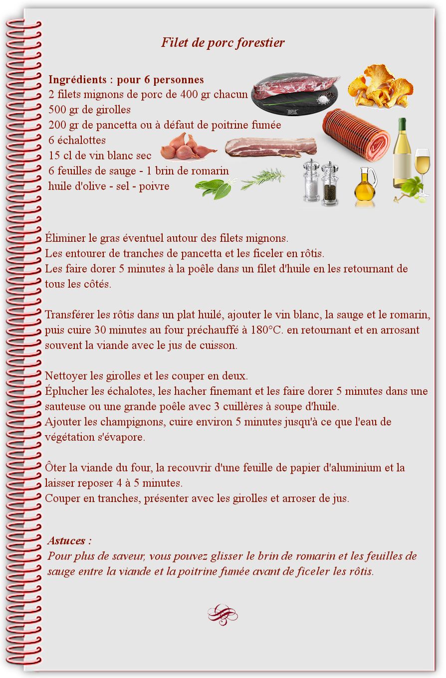 Filet de porc forestier