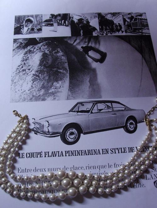 Collier sixties et son coupé Lancia Flavia Pininfarina