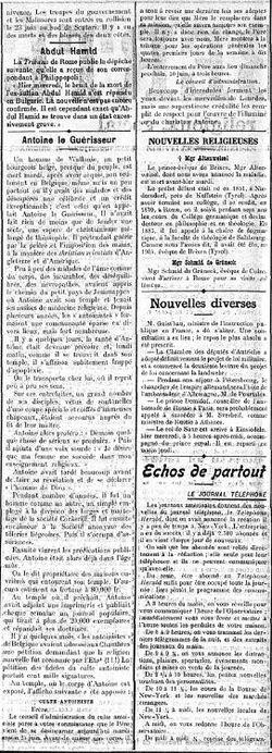 La Liberté, Journal politique, religieux, social - Fribourg, Suisse. - Jeudi 27 juin 1912