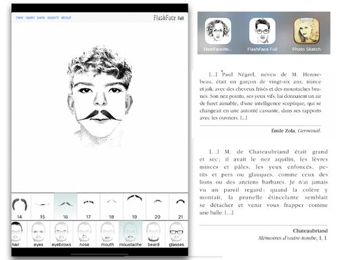 Améliorer les portraits des personnages grâce à une application de portraits robots