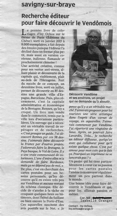 La Nouvelle République - Article du 6 février 2016