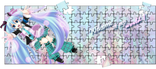 "puzzle ""enter in my world !"" Miku Hatsune"