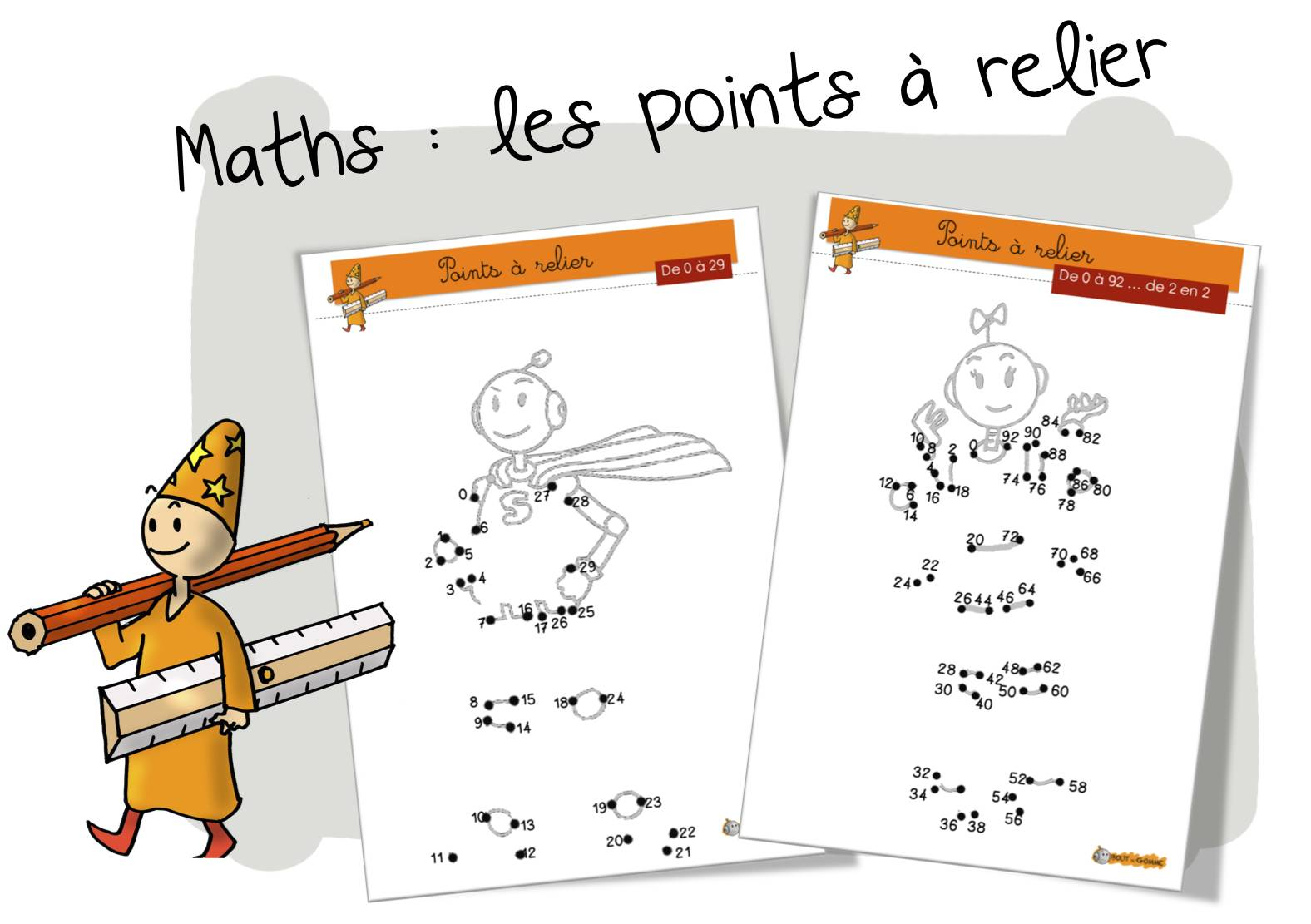 Maths les points relier de 0 99 bout de gomme - Points a relier ce1 ...