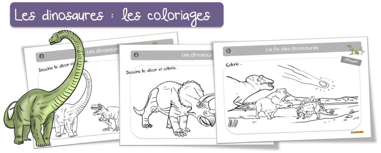 Coloriage Code Dinosaure.Coloriages Les Dinosaures Bout De Gomme
