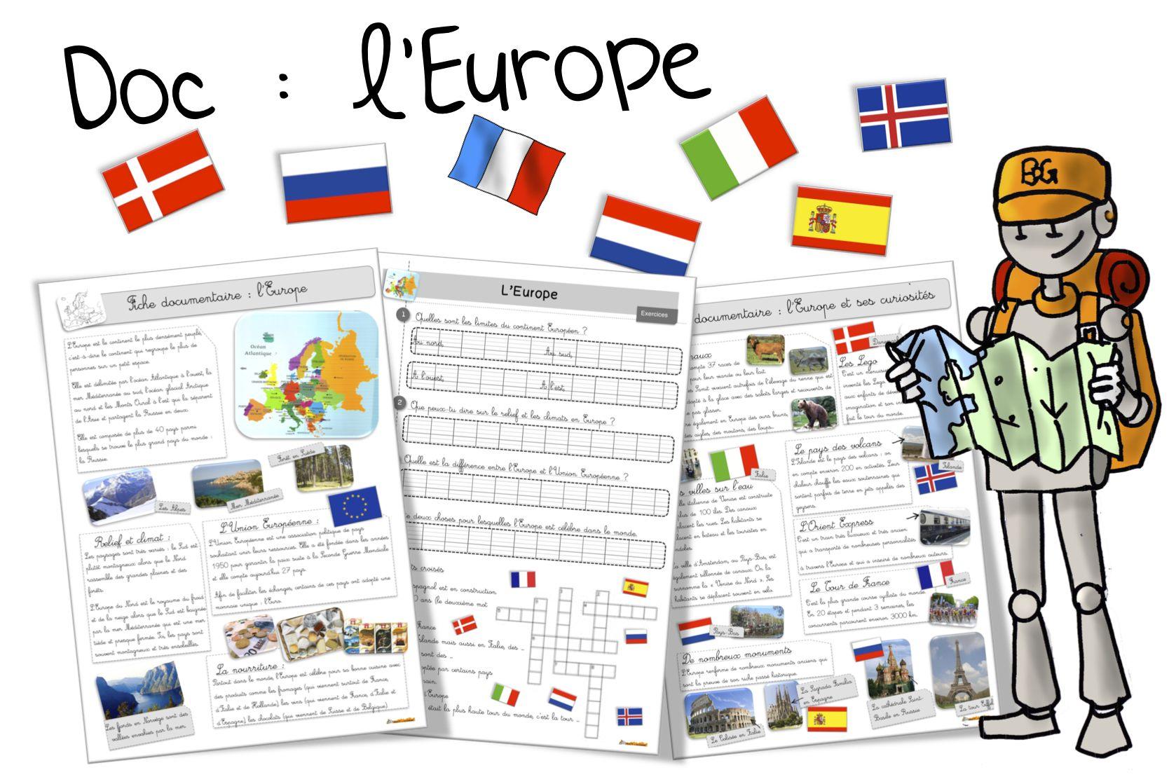 Géographie CM2 - Séquence complète : L'Union européenne ...
