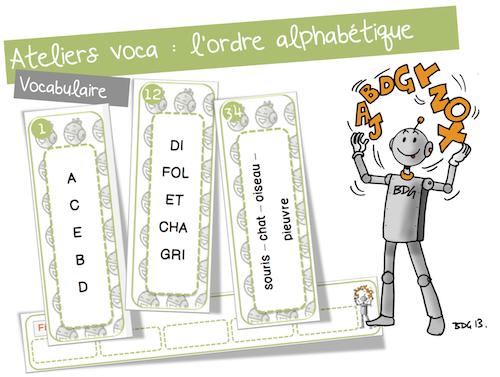 Atelier vocabulaire : l'ordre alphabétique | Bout de gomme ...
