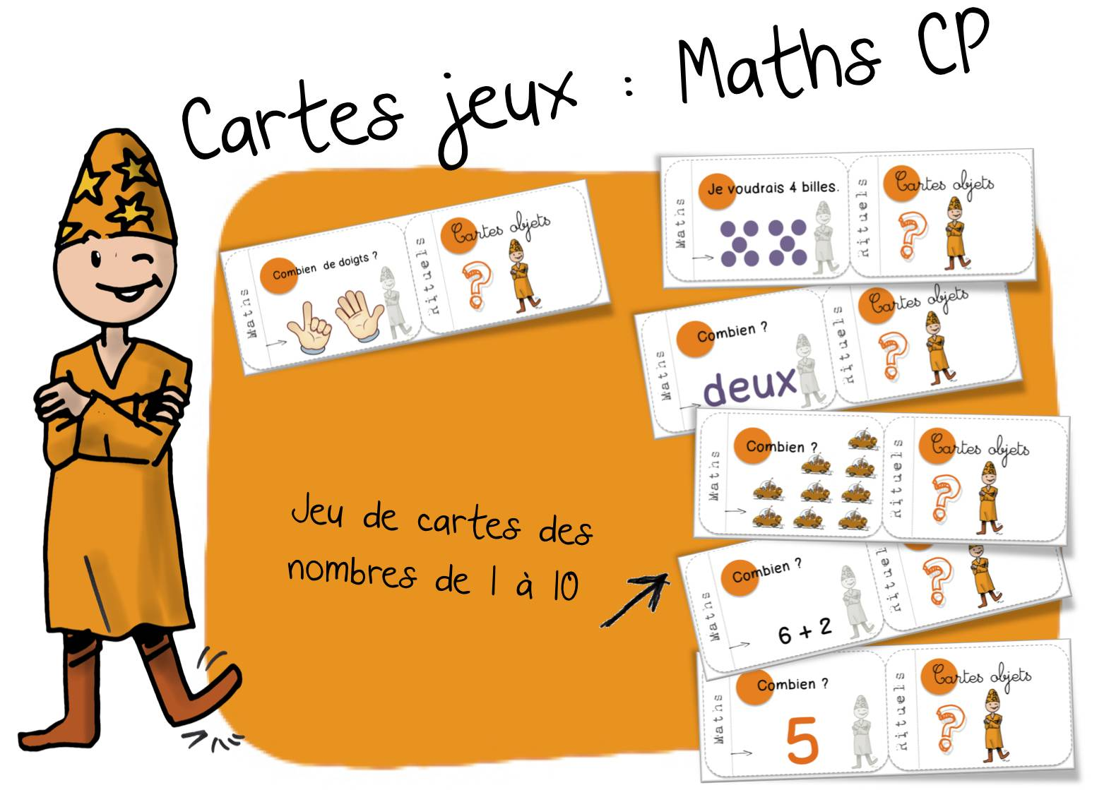 "Cartes ""rituels"" Maths CP"