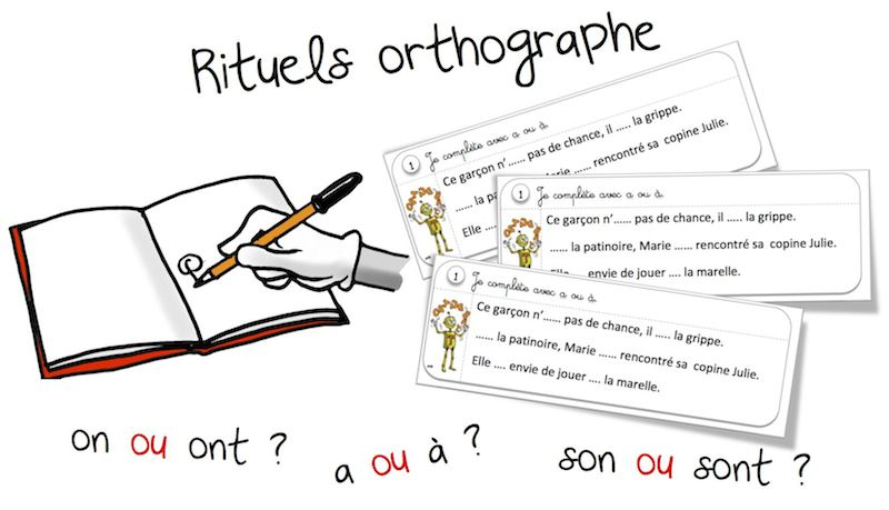 Rituels orthographe les homophones grammaticaux for Dans homophone