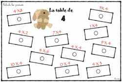 la table de 4 en ateliers