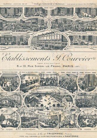 Usines de cartes postales 1915 - J. Courcier Nanterre