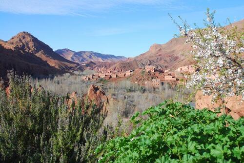 la vue sur la vallée depuis la terrasse