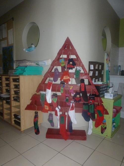 Une palette comme sapin de Noël!!!
