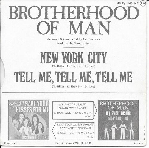 Brotherhood Of Man - New York City 02