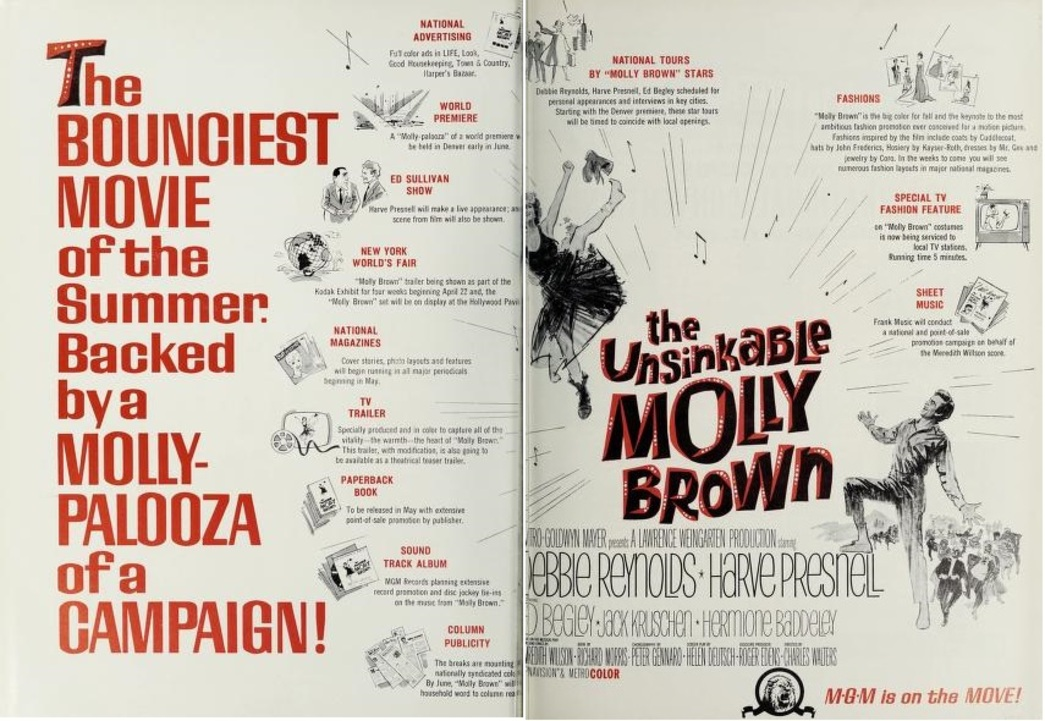 THE UNSINKABLE MOLLY BROWN BOX OFFICE USA 1964