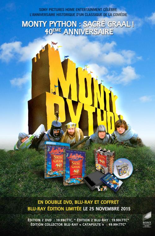Coffret MONTY PYTHON : SACRÉ GRAAL ! 40ème anniversaire, disponible le 25 Novembre 2015