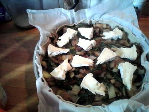 Tourte pommes de terre/blettes et camembert