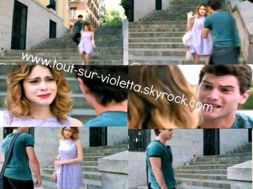 Diego essaye d'expliquer à Violetta qu'il l'aimer vraiment mais Violetta ne veut pas l'écouter
