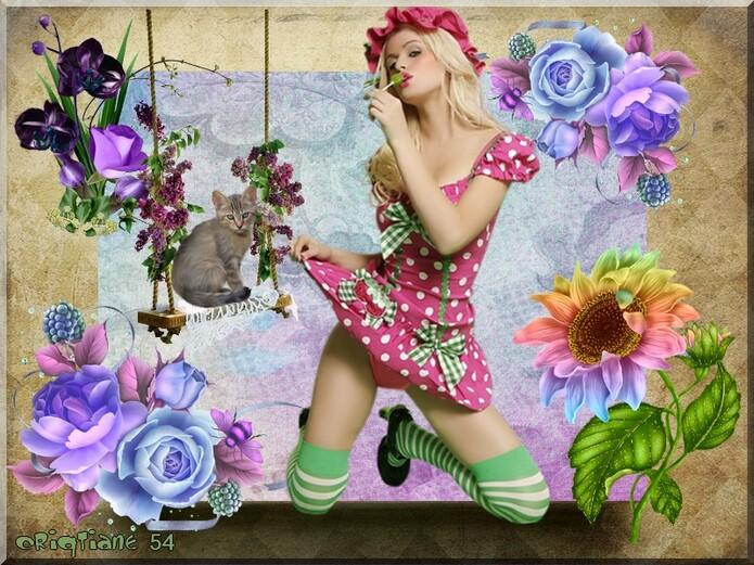 """Deux défis """" Que de fleurs"""" pour Monique """" journée de la femme """" pour Anastasia"""