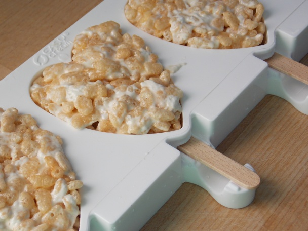 Rice krispies treats on a stick !