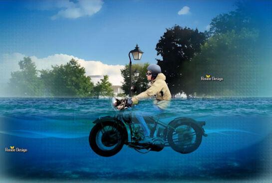 Rouler dans l'eau