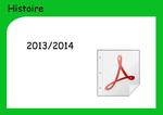 Histoire - Année 2013/2014