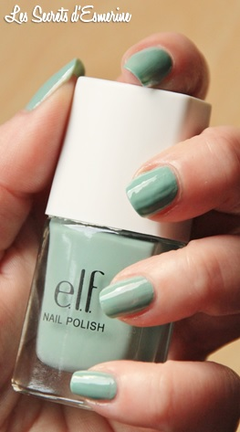 mint cream, elf, beachy, #AL10, #30403, vernis, polish, les secrets d'esmerine