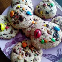 Recette Cookie au m&m's
