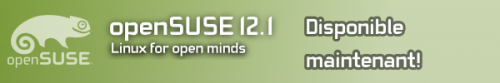 Sortie d'openSUSE 12.1