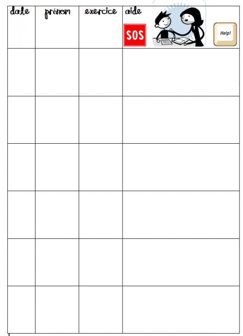 organisation de la classe : pages de garde cahier de bilan et plan de travail