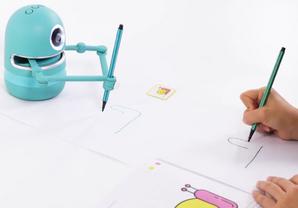 Quincy : le robot artiste qui montre les étapes de construction d'un dessin