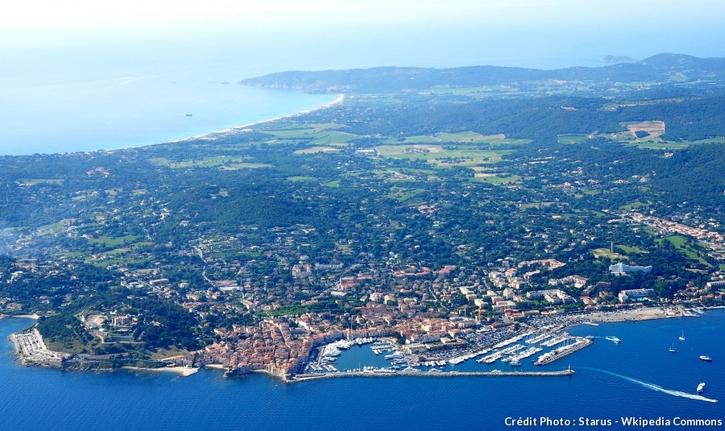 Saint-Tropez depuis le ciel