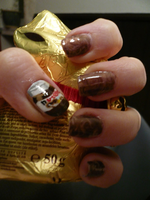 Nail art Nutella