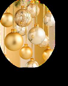 Beaux tubes de fêtes de fin d'année