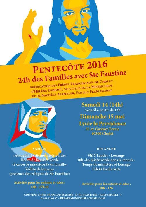 Fête de Pentecote: 24h miséricorde en famille