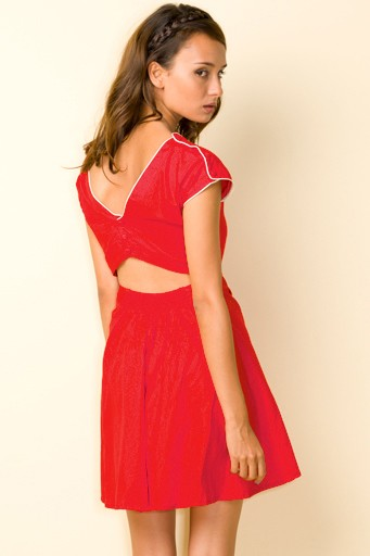 gemma dress plain red back 11274