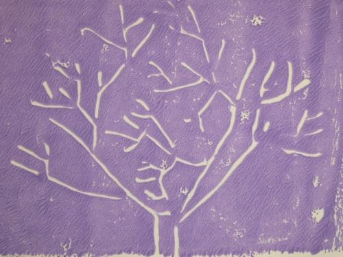 L'arbre en lithographie
