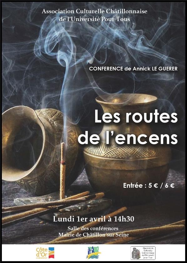 """""""Les routes de l'encens"""", une conférence de"""