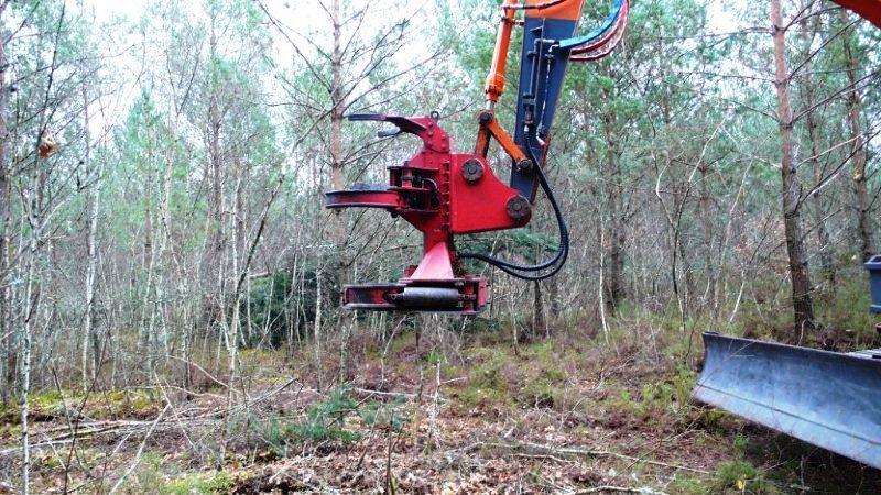 la cisaille forestière en situation de préhension